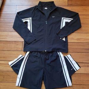 Nike • Black & White Striped Jumpsuit L